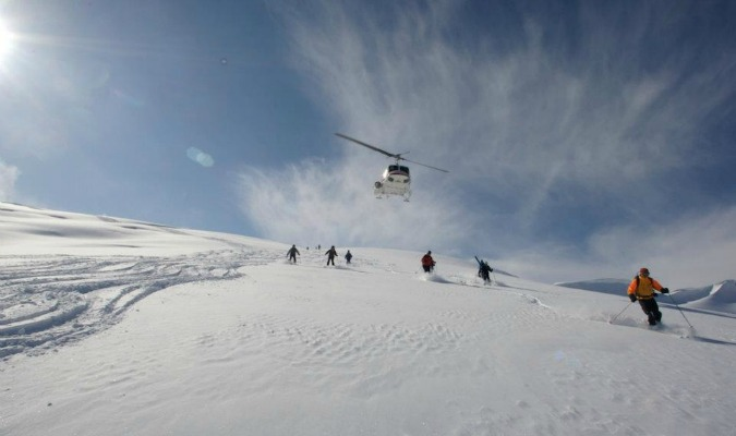 Heli skiing in Canada can be moderate