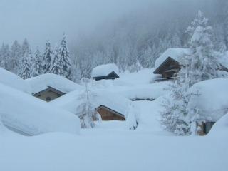 Deep snow in Chamonix