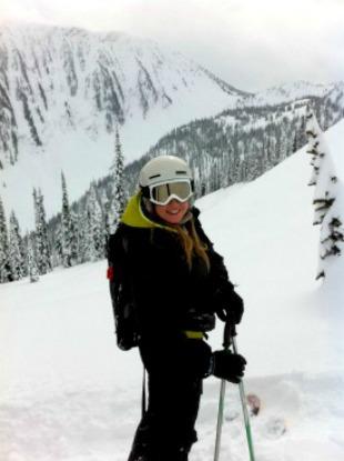 Rebecca heli skiing in Revelstoke