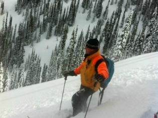 John our head guide in Revelstoke