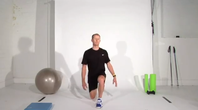 The Lunge - great for ski fitness