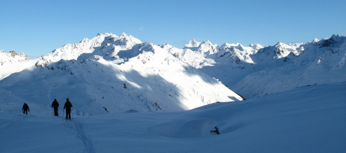 Endless off piste skiing in Klosters