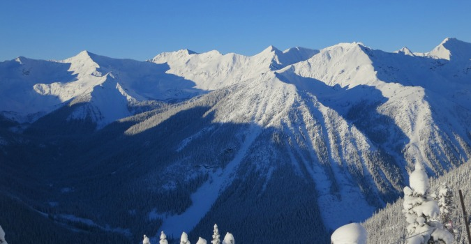Off piste skiing - Kicking Horse
