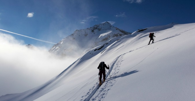 Up for beautiful views and down for powdery slopes!