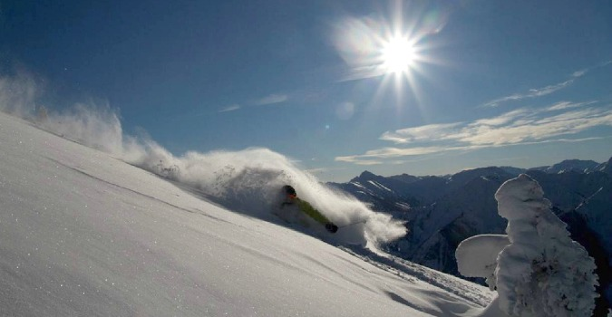 Sun and snow help get you ready for heli skiing!
