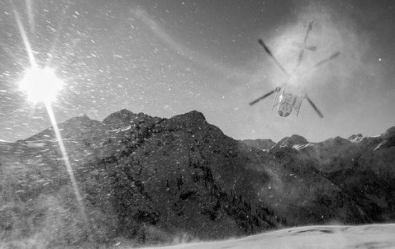 Bye to the helicopter, hello to fresh powder...