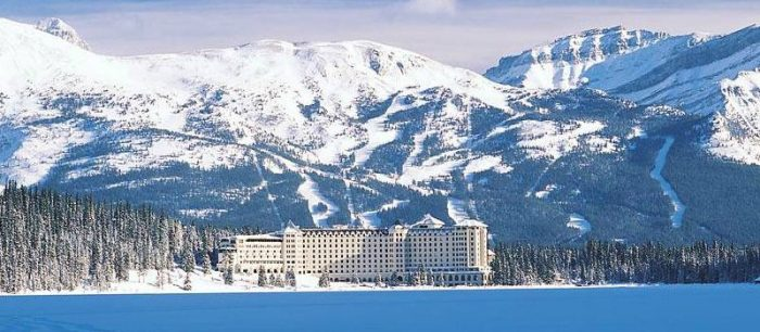 The picturesque Fairmont Chateau Lake Louise