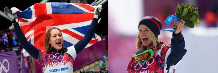 Lizzy Yarnold and Jenny Jones respectively